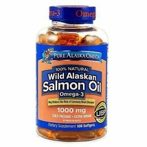 Natural Wild Alaskan 1000 mg Salmon Oil Softgels with Extra Virgin (180 ... - $27.91