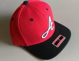 Adidas League A Red Black Design Snap-Back Flat Brim One Size - $20.00