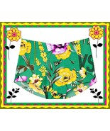 M  Green Floral  NO SHOW Seamless Victorias Secret High Waist Brief Pant... - $10.99