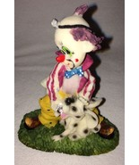 Adorable Clown With A Puppy Figurine Statue Figure Dalmation Dog Great C... - $9.99