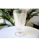 Set of 3 Fostoria Diamond Point Clear Iced Tea Glasses c 1973-1974 RARE - $32.66