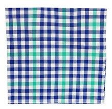 Tommy Hilfiger Mens Gingham Handkerchief Pocket Square Navy O/S - $31.85