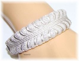 Judith Ripka 3.00ct Diamonique Wrapped Pave Cuff Sterl Silver Bracelet S... - $299.00