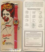 Vintage Ronald Mcdonald Children's Charities Promotional Red Watch Sealed 1986 ! - $24.88
