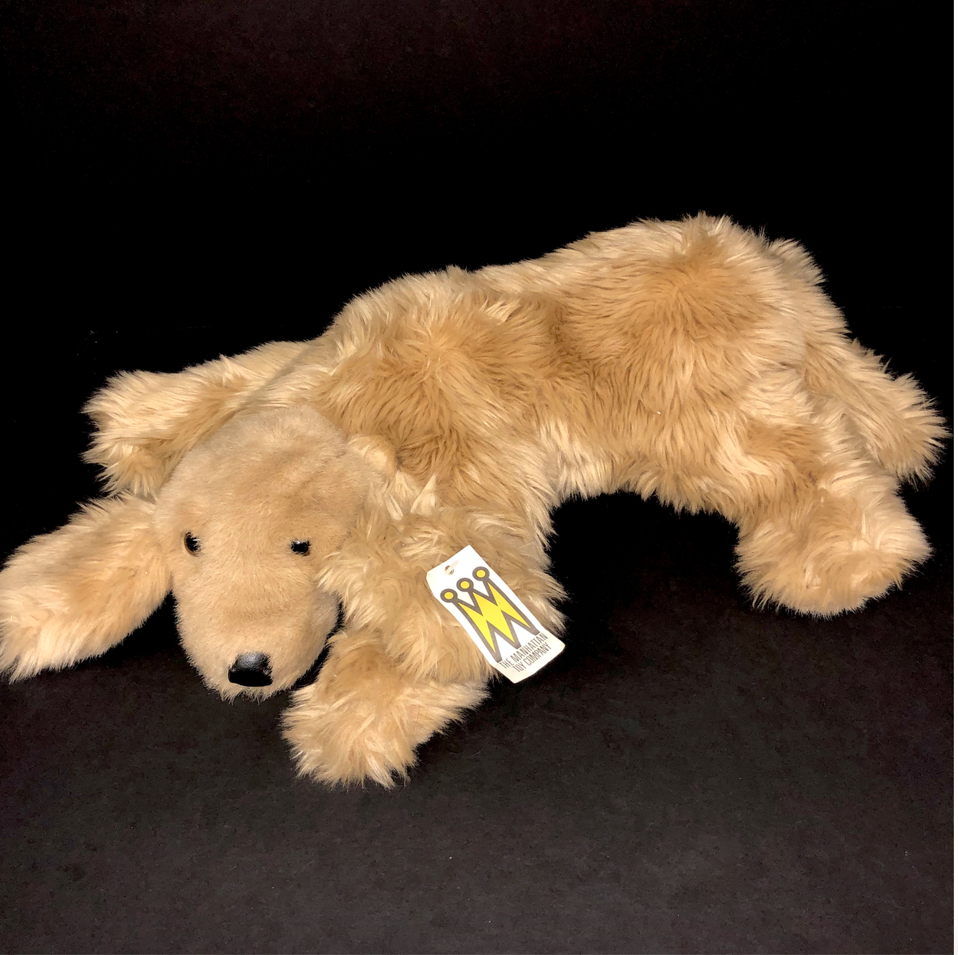 Primary image for NWT Manhattan Toy Company Vintage Dog Plush Stuffed Animal 1997 Golden Retriever