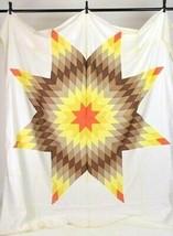 Vintage 1950s Sunburst Star Patchwork Quilt Topper Blanket Unfinished 88... - $276.20