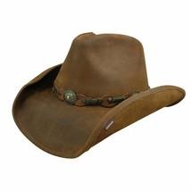 Stetson Roxbury Shapeable Leather Cowboy Western Hat Small Rust - $149.99