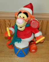 "2001 Disney Store Christmas Animated Plush Tigger Drummer 11"" Motion Act... - $24.48"