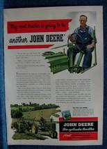 1948 John Deere Tractor Ad  - Farmer's Next Tractor Will Be Another John Deere - $8.66