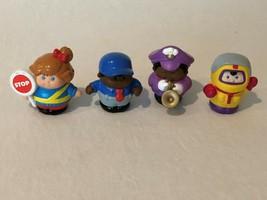 Little Tikes Lot 4 Figures Plastic PVC Astronaut Girl Boy - $7.99