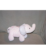 JUST ONE YEAR STUFFED PLUSH PINK LAVENDER PURPLE ELEPHANT BABY RATTLE FL... - $28.50