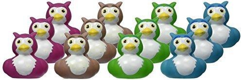 """Rhode Island Novelty 2"""" Owl Rubber Duck (12 Piece)"""