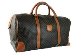 Auth CELINE Paris Macadam PVC Leather Travel Bag Boston Bag Hand Bag Ita... - $147.51