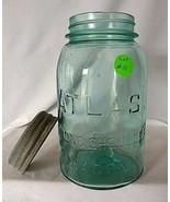 Vintage Atlas Strong Shoulder #8 Blue Quart Mason Jar - $19.80