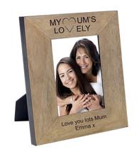Engraved Mothers Day Keepsake Photo Frame Oak Wood Veneer Your Own Messa... - $38.48