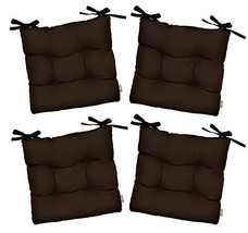 RSH Décor Set of 4 - Indoor/Outdoor Sunbrella Canvas Bay Brown Tufted S... - $279.99