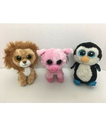 """TY Beanie Boos Plush King Lion Corky Pig Waddles Penguin 6"""" Inch - $29.69"""