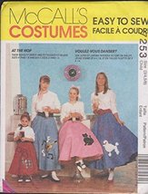 McCalls Costume 7253 Poodle Skirts - $7.25