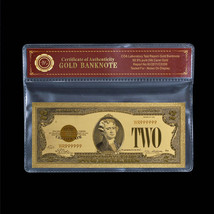 WR 1928 Gold Certificate $2 US Bill Fine Gold Banknote Collectible Foil ... - $6.18