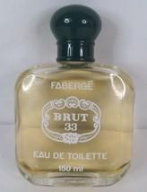 Vintage Faberge Brute 33 Eau De Toilette NOS Full Bottle - $80.00