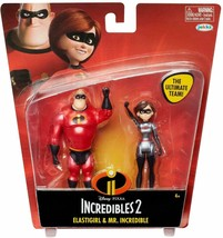 Disney Incredibles 2 Elastigirl & Mr. Incredible 4 Scale Action Figure 2... - $10.69