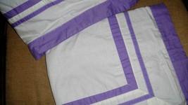 PB Teen Suite Set of 2 Euro Pillow Shams White With Purple Organic Cotton - $39.57