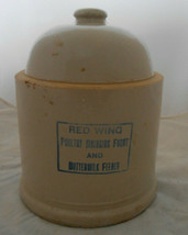 RED WING POTTERY POUTRY DRINKING CHICKEN FOUNT BUTTERMILK FEEDER ANTIQUE - $89.09
