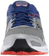 Saucony Herren Silber Blau Grid Cohesion 10 Laufen Läufer Schuh Sneaker Nib image 2