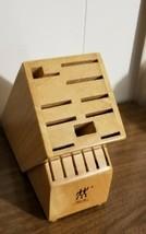J.A. Henkles 16 Slot Wood Knife Block Zwilling - $25.00