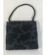 Vintage Joseph Shoes Handbag Velvet Multicolor Roses AL005 - $96.74