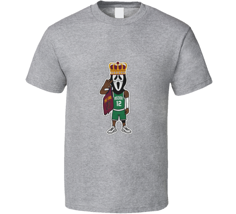 Primary image for Scary Terry Rozier Scream Mask Lebron The King Boston Basketball Sport Grey T Sh