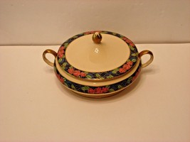 Beautiful Vintage Princess Anne Soup Bow Tureen W/ Lid, 22K Gold Trim, H... - $25.69