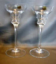 Cristal d'Arques Vicomte Candlestick Candle Holder Set 2 Lead Crystal Fr... - $14.90