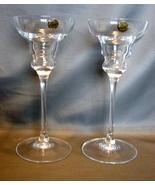 Cristal d'Arques Vicomte Candlestick Candle Holder Set 2 Lead Crystal Fr... - $14.90