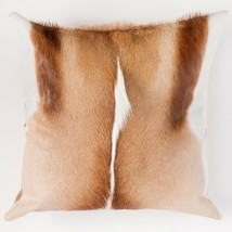 Real African Springbok Fur Pillow - Large 18x18 Square Throw Accent w/Do... - $160.00