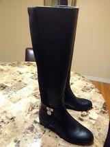 New Michael Kors Hamilton Black Leather Tall MK... - $85.00