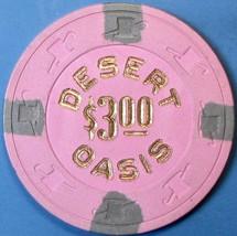 $3 Casino Chip. Desert Oasis, Indio, CA. 1990. Q13. - $6.99
