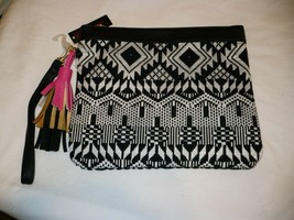 No Boundaries Wallet Wristlet Black White Design Carry All NEW - €11,71 EUR