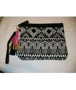 No Boundaries Wallet Wristlet Black White Design Carry All NEW - £9.83 GBP