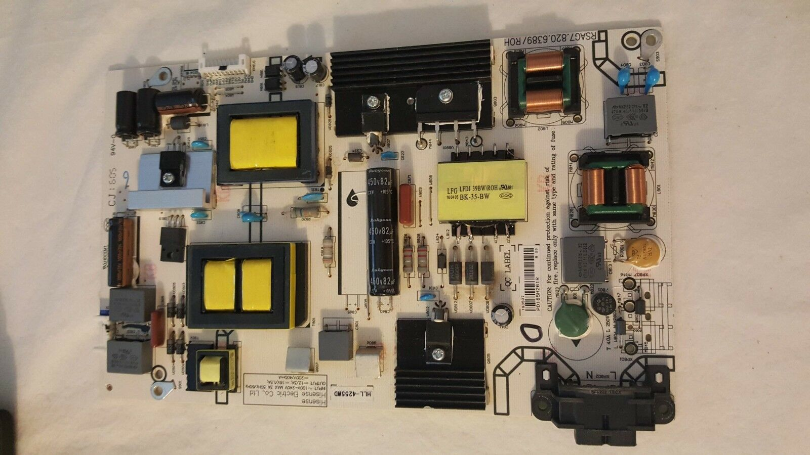 Primary image for Sharp LC-43N4000U  HLL-4255WD 193507 POWER SUPPLY