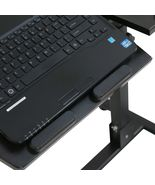 Angle Height Adjustable Rolling Laptop Desk Over Sofa Bed Notebook Table... - $45.00