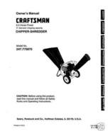 Craftsman  Chipper Shredder  Manual Model # 247.775870 - $10.88