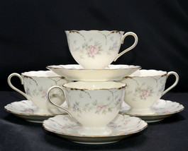Mikasa Remembrance * 4 CUPS & 6 SAUCERS * Small Flowers, Excellent! - $69.29
