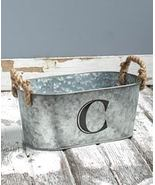 Galvanized Monogram Bucket C - $13.65