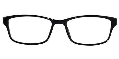 EBE Bifocal Reading Glasses Mens Womens Rectangular Black White Light RX