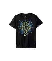 Nike Boys Size 4 Black FLY WITH US Dri Fit Short Sleeve T Shirt 86C187 New - $12.86