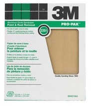 "3M 99401NA 9"" x 11"" 220A Grit Aluminum Oxide Sandpaper Paint / Rust Removal - $7.43"