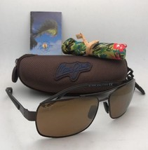 Polarized MAUI JIM Sunglasses OLA MJ 764-25M Matte Brown Aviator Mirrore... - $339.95