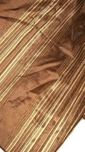 """Waverly 2 Faux Silk & Chenille Brown & Taupe Striped Drapery Panels 54"""" X 84"""" Ea - $49.47"""