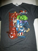 Boys Marvel Avengers A Gang Animated Gray T Shirt New Size XXL 18  - $9.89